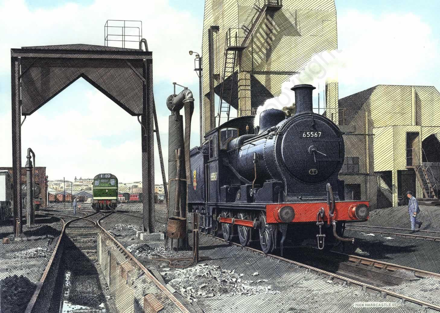 J17 65567 on Norwich shed