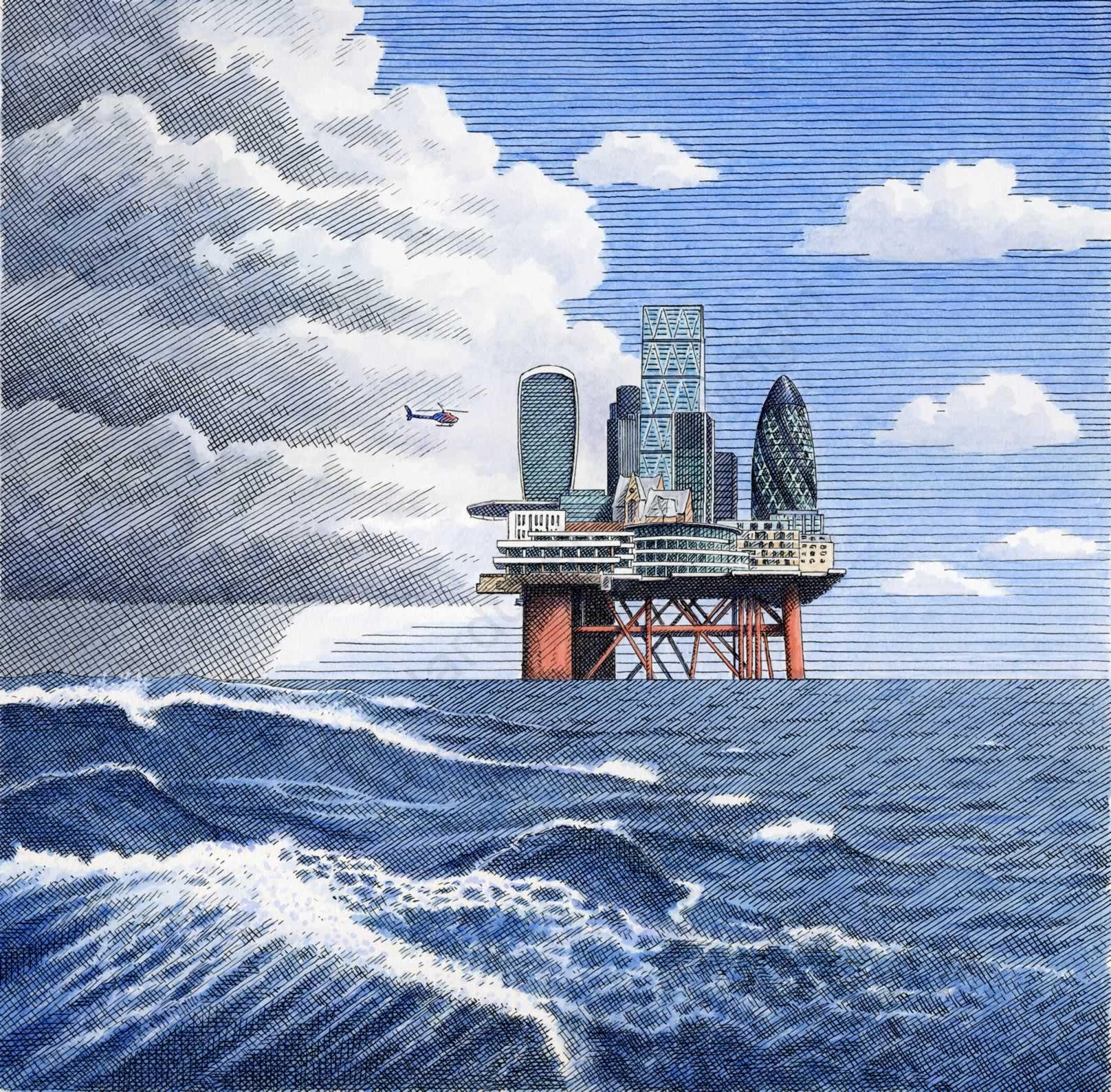 North sea Oil Rig-Real Deals