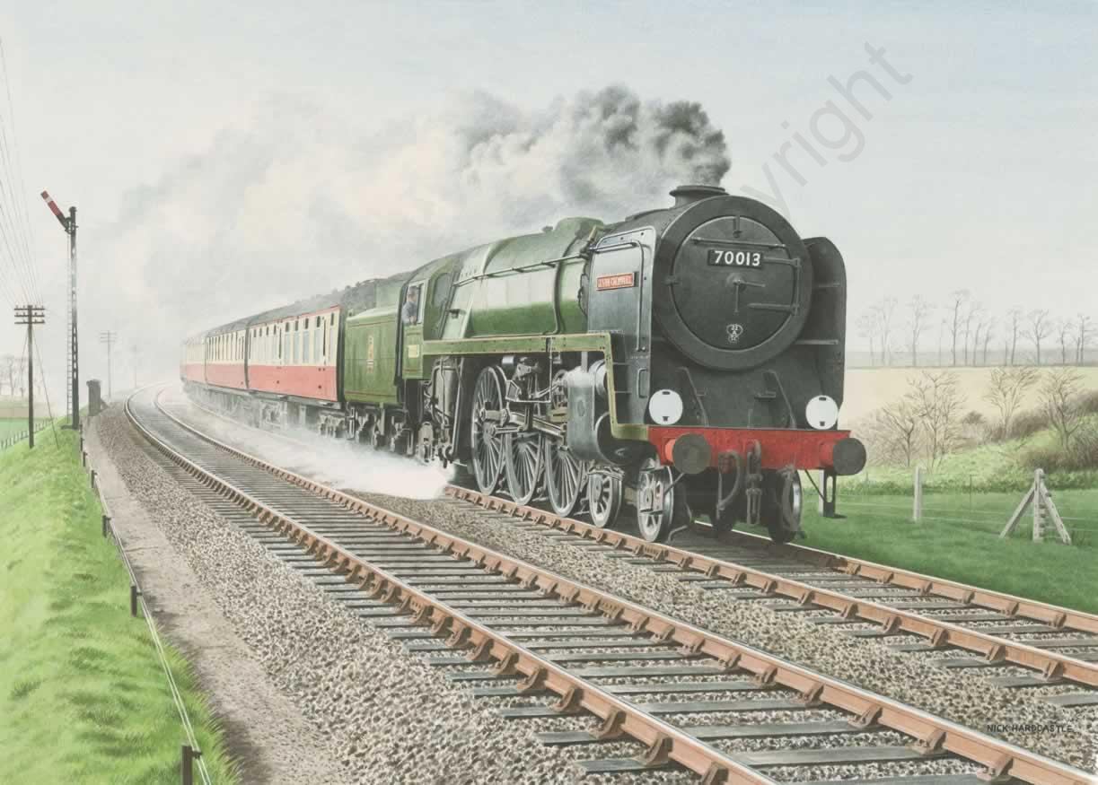 Oliver Cromwell 70013 at Speed