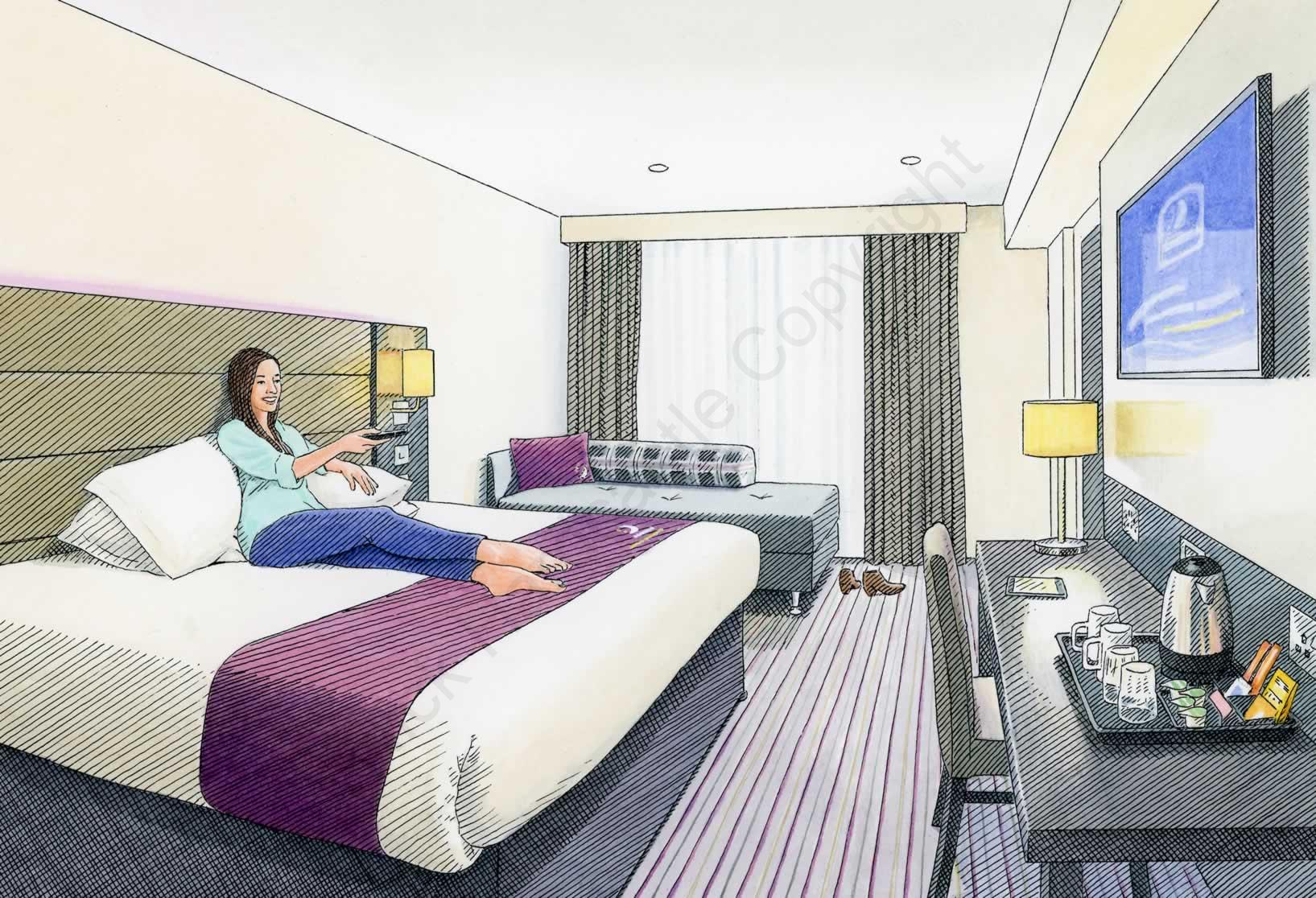Premier Inn room-Golin
